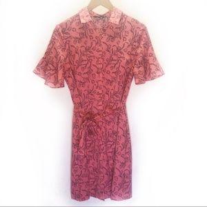 Banana Republic Rose Print T-shirt Dress